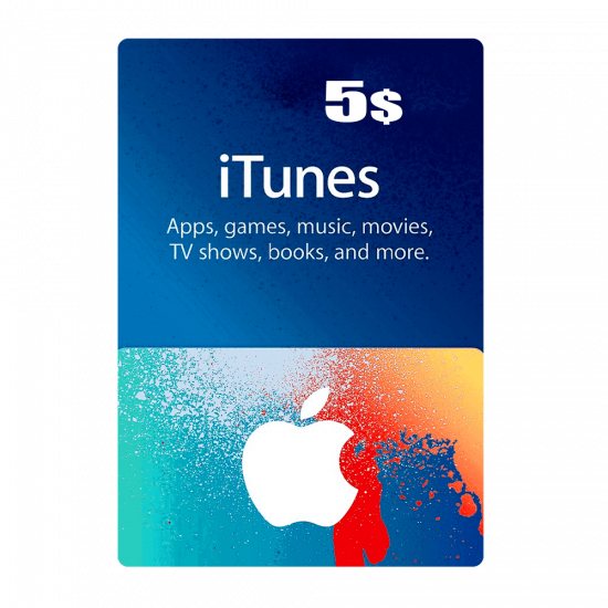 Apple iTunes Gift Card North America 5 USD iTunes