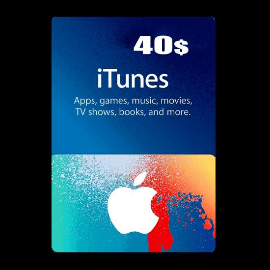 Apple iTunes Gift Card North America 40 USD iTunes