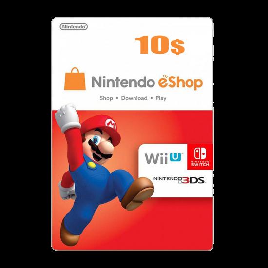 Nintendo E-Shop 10 USD Card