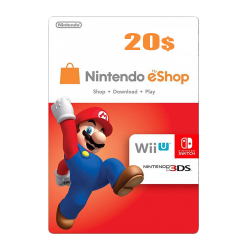 Nintendo E-Shop 20 USD Card