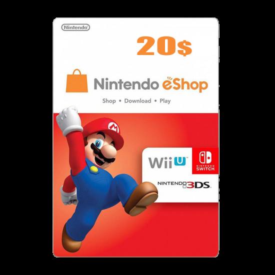 Nintendo E-Shop 20 USD Card