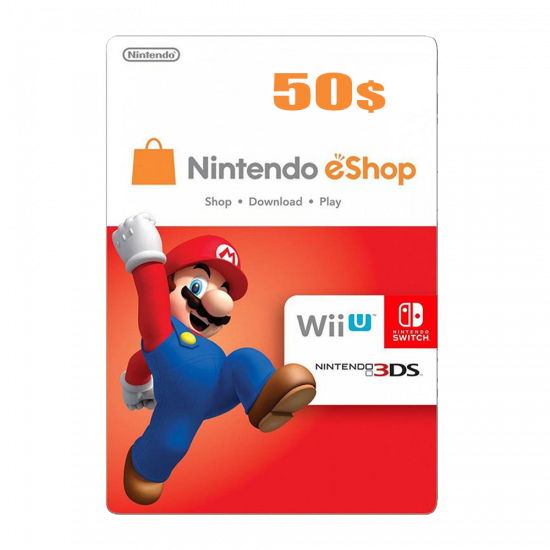 Nintendo E-Shop 50 USD Card