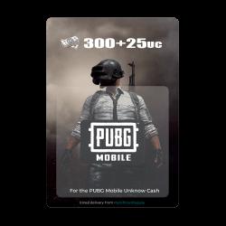 PUBG Mobile - 300 UC + 25 UC (Digital Code)