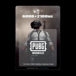 PUBG Mobile - 6000 UC + 2100 UC (Digital Code)