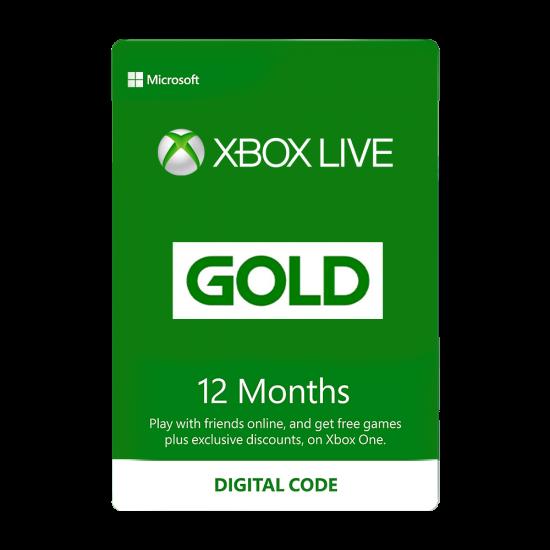 12 Month Xbox Live Gold Membership US Digital Code