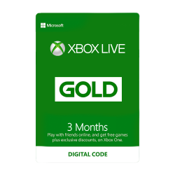 3 Month Xbox Live Gold Membership US Digital Code