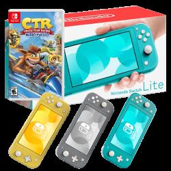 Nintendo Switch Lite three colors & Crash Team Racing Nitro-Fueled
