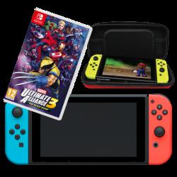 Nintendo Switch long & Marvel Ultimate Alliance 3: The Black Order & Bag