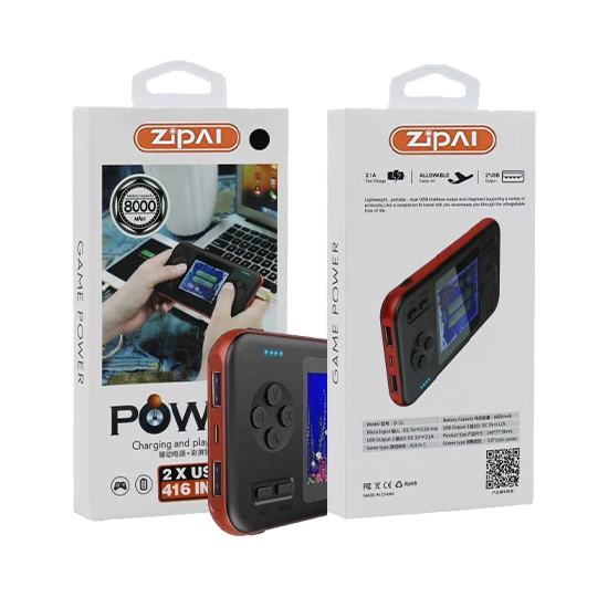 Zipai ZP-10 Fast Charging 2 in 1 Game Console Power Bank, 8000 MAH with 3 Outputs