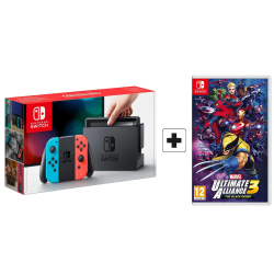 Nintendo Switch - Gray Joy-Con & MARVEL ULTIMATE ALLIANCE 3