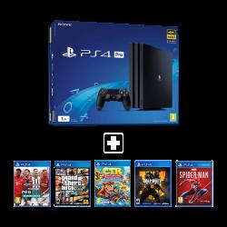 Sony Playstation 4 Pro 1TB Black & Online & Offline package