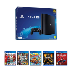 Sony Playstation 4 Pro 1TB Black & Online package