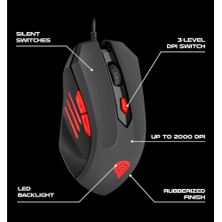 GENESIS G66 OPTICAL GAMING MOUSE