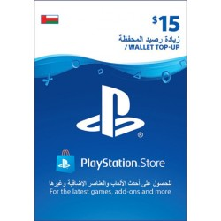 Oman PSN Wallet Top-up 15 USD