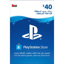 Oman PSN Wallet Top-up 40 USD
