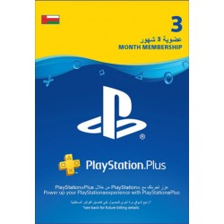 Oman PlayStation Plus: 3 Month Membership