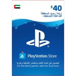 UAE PSN Wallet Top-up 40 USD
