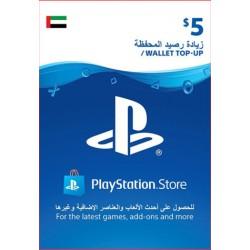 UAE PSN Wallet Top-up 5 USD
