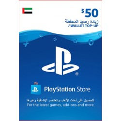 UAE PSN Wallet Top-up 50 USD