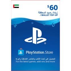 UAE PSN Wallet Top-up 60 USD