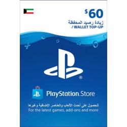 Kuwait PSN Wallet Top-up 60 USD