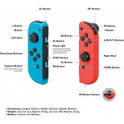 Nintendo Switch – Neon Red and Neon Blue Joy-Con - Japanese