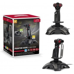 SPEEDLINK PHANTOM HAWK Flightstick with Hand Rest for Right-handed Use  Black
