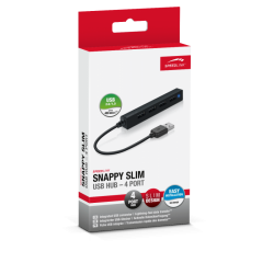Speed link snappy slim usb hub 4 port black