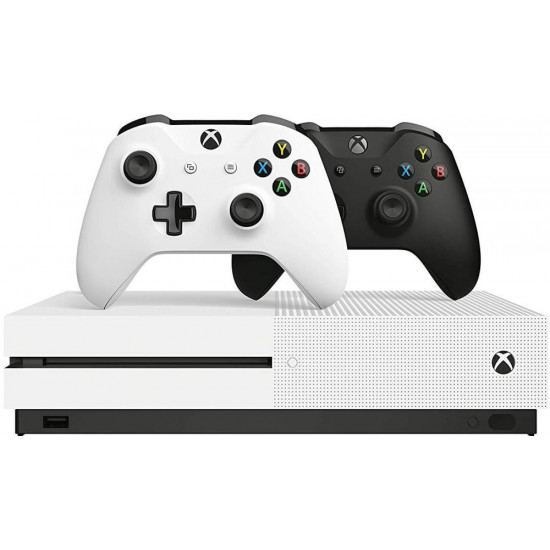 Xbox one S 1 TB 2 Controller black-white bundle