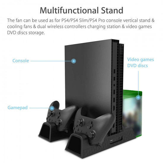 PS4 SERIES VERTICAL STAND WITH COOLING STAND