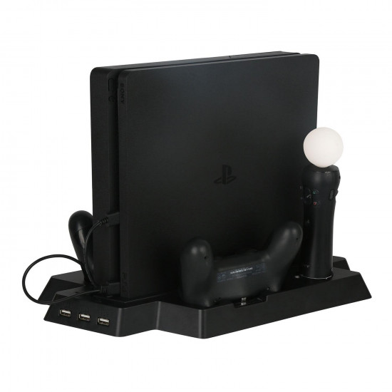 PS4 Slim / PS4 Universal Controller Charger with Cooling Fans, Vertical Stand Dual Controllers Charging Station