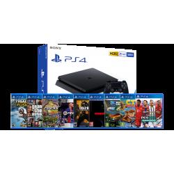 PlayStation 4 Slim 500GB & Nine special games