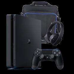 PlayStation 4 1TB & & bag & Gold Headset