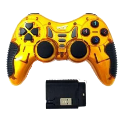 EXTRA EX-WL2023PUP 5 IN 1 WIRELESS GAMEPAD–YELLOW AND BLACK