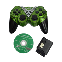 EXTRA ELECTRONICS WIRELESS GAME PAD-GREEN AND BLACK