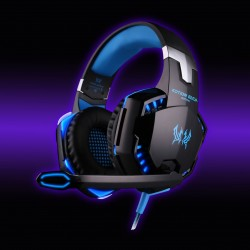 G2000 Over-Ear Wired Gaming Headphones With Mic Black-Blue-Silver