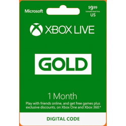 1 Month Xbox Live Gold Membership US Digital Code